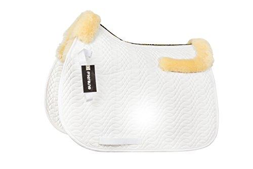 (merauno Sheepskin GP Saddle Pad Full Blanket Dressage Jumping Numnah Saddlecloth & Square Saddle Pads Horse Riding Show General Purpose Pad)