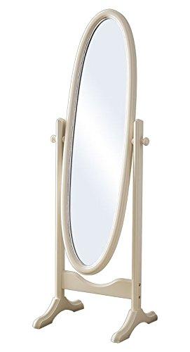 Miroir ovale sur pied, structure en bois laqué, miroir pour chambre ...