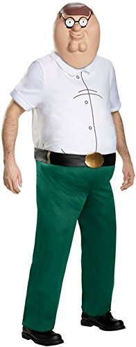 [Family Guy Costume, Mens Peter Griffin Deluxe Outfit, X-Large, Chest 42 - 46