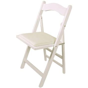 SoBuy FST06 W Chaise Pliante En Bois Avec Assise Rembourre Pliable Pour Cuisine