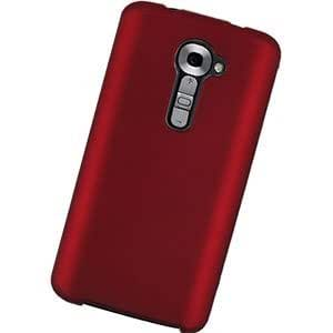 LG G2 Protective Rubber Case, Red
