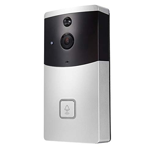 VOANZO Smart Home WiFi Video Doorbell 720P HD Security Camera 166-Degree Wide Angle Lens Two-Way Audio PIR Motion Detection Night Vision Wireless Video doorbell