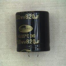 CAPACITOR-ELECTROLYTIC-R; 820UF,20%,250V,GP,BK,35X40MM, ()