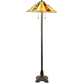 Superior Tiffany Style Mission Floor Lamp