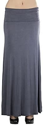 ToBeInStyle Women's Long Skirt with Fold-Over Waistband