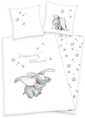 Herding - Juego de cama (100% algodón, funda nórdica de 135 x 200 cm, funda de almohada de 80 x 80 cm), diseño de Dumbo de Disney: Amazon.es: Hogar