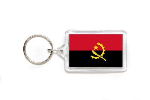 Angola Angolan Flag Double Sided Acrylic Key Ring Small