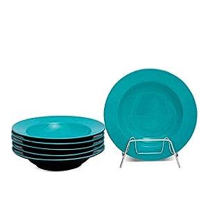 Birdie Handpainted Ceramic Dinner Pasta Soup/Maggie/Macaroni/Serving Plates for Dinner - Set of 2