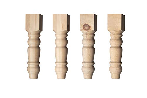 (Husky Country Coffee Table Legs in Knotty Pine (Set of 4))