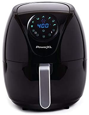 PowerXL Air Fryer7 QT Maxx, Special Edition 2021, Extra Hot Air Fry, Cook, Crisp, Broil, Roast, Bake,, High Gloss Finish, Black (7 Quart)