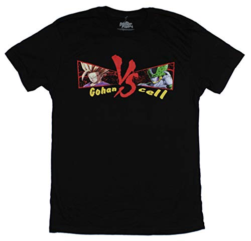Dragon Ball Fighter Z Mens T-Shirt - Cell Vs Gohan Image (X-Large) Black