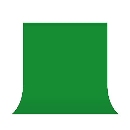 UTEBIT Green Screen Backdrop 5x7 Photo Booth Polyester 1.5m x 2m Chromakey Backdrops Collapsible Blackground Sheet for Portrait Photo Studio Live Broadcast Video Shooting (Stand Not Include)
