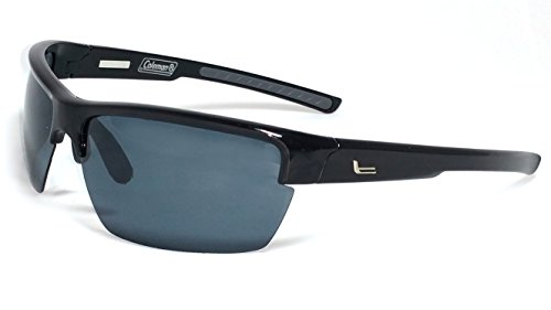 Coleman Summit Polarized Rectangular Sunglasses, Black, 70 - Sunglasses Summit