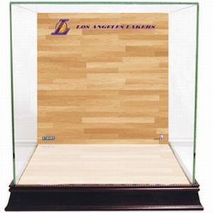 NBA Los Angeles Lakers Glass Basketball Display Case with Team Logo on Court ()