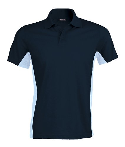 Kariban Flagge Polo Shirt Navy / Sky S