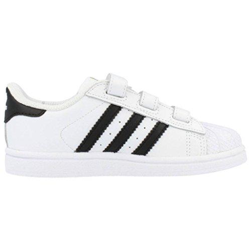 adidas Superstar Foundation Cf I, Zapatos de Primeros Pasos Bebé Blanco / Negro (Ftwbla / Negbas / Ftwbla)