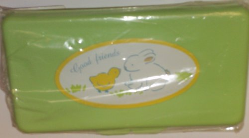 Green Bunny and Chick Baby Wipes Case (Diaper Cookie)
