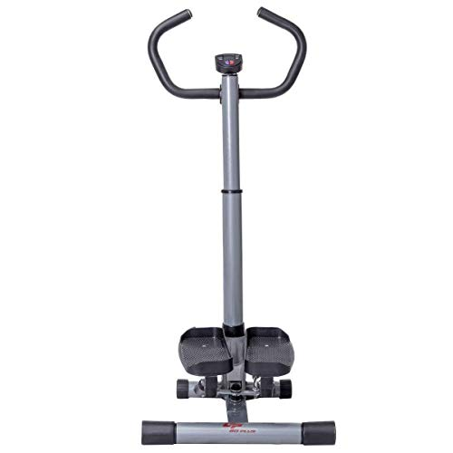 Selva Twister Stepper w/Handle Bar – 12 Level Step Machine | LCD Monitor Time Calories Count Height Adjustable Sturdy Heavy Duty Support 220Lbs | for Fitness Workout Exercise Thigh Buttock Bone Joint by Selva (Image #1)