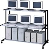 NetStart#153; 60 Wide LAN Support Station, 62w x 30d x 50h, Graphite/Light Gray (MLN11160)