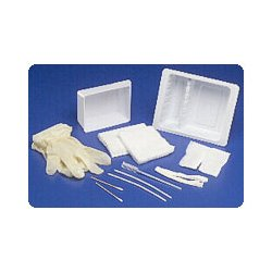 Kendall Tracheostomy Care Tray With Latex-Free Gloves (6842201) Category: Cannulas and Tracheostomy Supplies by Kendall