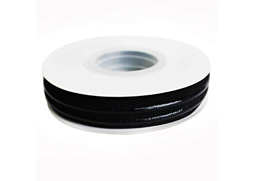 Available Variety of Colors 5/8'' Silicone Elastic Tape 5yards/roll (Black)