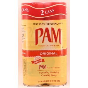 Pam Original No-Stick Cooking Spray 100% natural Canola Oil ,SIX (6) pack - 12oz each can