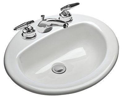 MANSFIELD PLUMBING PRODUCTS 237-4 Oval Self Rim Lavatory by Mansfield Plumbing