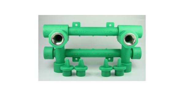 PPR Aqua de Plus unidad de montaje 20 mm con 1/2 pulgadas Conector, fusiot herm: Amazon.es: Bricolaje y herramientas