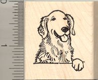 Golden Retriever Dog Rubber Stamp - Wood Mounted Retriever Dog Stamp
