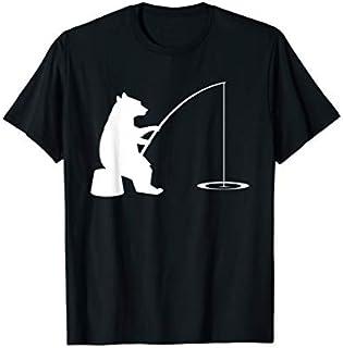 Cool Gift Fishing  | Bear Fishing t-shirt Gift Apparel Women Long Sleeve Funny Shirt / Navy / S - 5XL