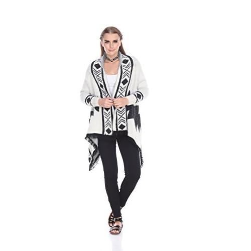 Kamana Rising International Womens Winter Black And White Classic Sweater White