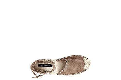 L Caf Zapatos Suela 085 Sandalias Postes Hielo Noir Cuerda Gd931 De 094 Beige Mujer tRq1Rr