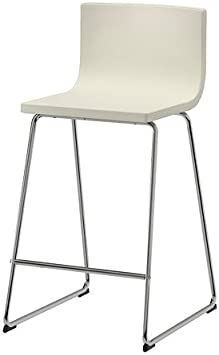 Amazon.com: Ikea Bar stool with backrest, chrome plated ...