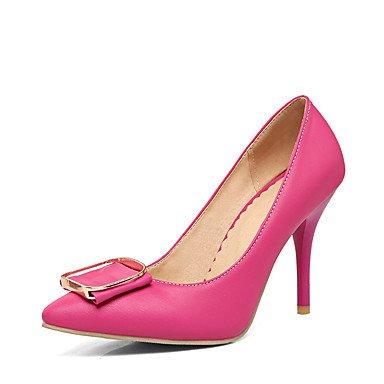Talones de las mujeres de primavera y verano del club Zapatos de cuero banquete de boda y vestido de noche de tacón de aguja del Bowknot Negro Azul Rosa Púrpura Beige Otros Light Blue
