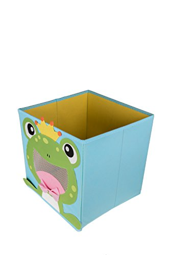 Clever Creations Cute Smiling Frog Collapsible Toy Storage Organizer Toy Box Folding Storage Cube Kids Bedroom | Perfect Size Storage Cube Books, Kids Toys, Baby Toys, Baby Clothes by Clever Creations (Image #2)
