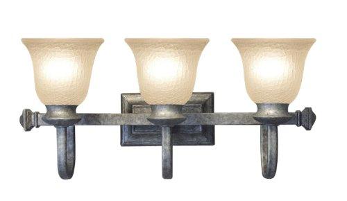 Woodbridge Lighting 53019-GST Dresden 3-Light Bath Light, Greystone ()