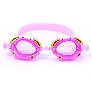Waterproof anti-fog Kids Crab Swim Goggles,Child Toddler Swimming Goggles Pink