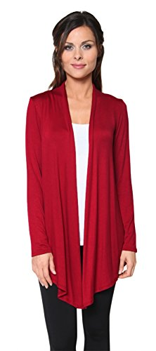Free to Live Women's Light Weight Open Front Cardigan Sweater Made in USA (Large, - Live Free