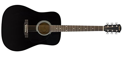 Squier SA-150 Squier Beginner Dreadnought Acoustic Guitar - Gloss Black Finish (Fender Guitar Neck)