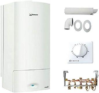 Caldera de pared condensación Elm leblanc MEGALIS/MEGALIA Condens 22kW Complete (dosseret + ventosa + termostato TRL22)