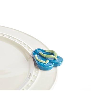 Nora Fleming Ceramic Mini For Platter- Flip Flops