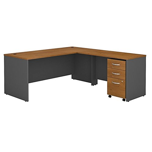 Bush Business Furniture Series C 72W L Shaped Desk with 48W Return and Mobile File Cabinet in Natural Cherry ()