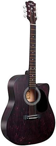 ギター コーナー着色不足している男性と女性の学生フォークアコースティックギター41インチのフル栃木 アコースティックギター (Color : A, Size : 41 inches)