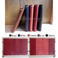 Comolife Made in Japan , Real Leather Mini Book Cover , Color : Black