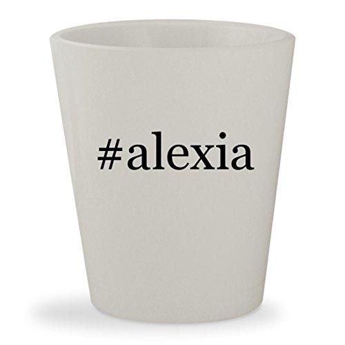#alexia - White Hashtag Ceramic 1.5oz Shot Glass