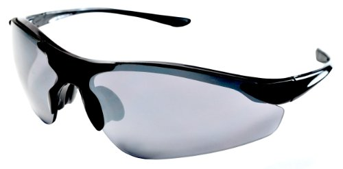 JiMarti TR15 Falcon Sunglasses for Golf, Fishing, Cycling-Unbreakable (Black & Smoke) ()