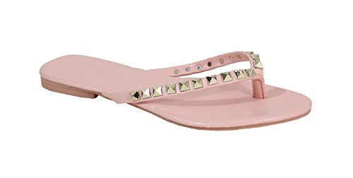 By Shoes - chanclas para Mujer (38, Rosa)