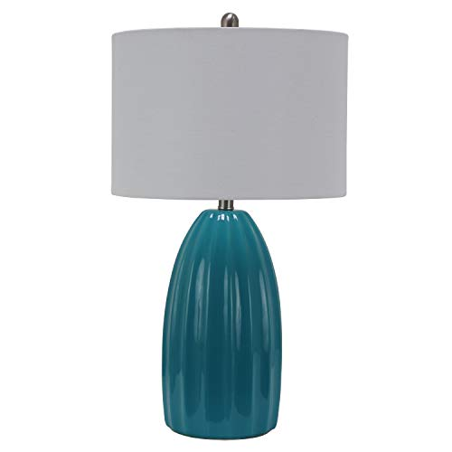Decor Therapy TL17306 Table Lamp, Teal Crackle