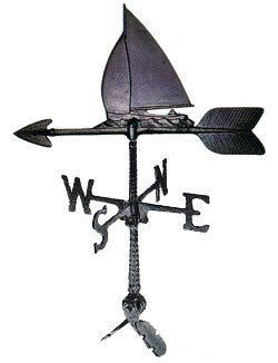 Montague Metal Products 24-Inch Weathervane with Sailboat Ornament by Montague Metal Products
