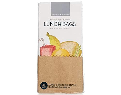 - Prince & Spring Brown Lunch Bags, 200 Count